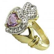 انگشتر نقره آمتیست جواهری زنانه