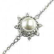 دستبند نقره مروارید طرح گیتا زنانه