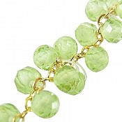 دستبند نقره زبرجد زیبا زنانه