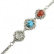 دستبند نقره در نجف و فیروزه و عقیق فاخر زنانه
