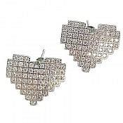 گوشواره نقره طرح قلب