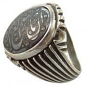 انگشتر نقره حدید حکاکی ان الله بالغ امره مردانه