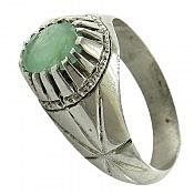 انگشتر نقره زمرد هندی شاهانه مردانه
