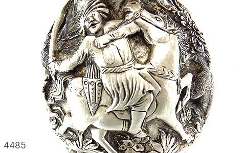 تصویر تندیس نقره قلم زنی شکارگاه (گلدان نقره) - شماره 12