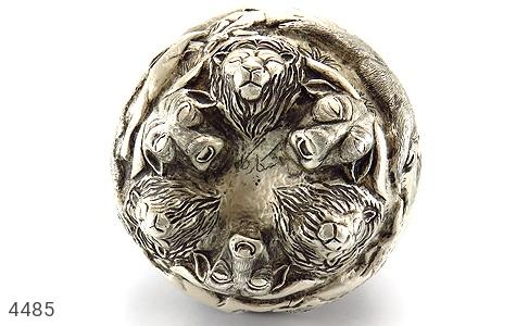 عکس تندیس نقره قلم زنی شکارگاه (گلدان نقره) - شماره 7