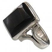 انگشتر نقره عقیق سیاه طرح کلاسیک ارزشمند مردانه دست ساز