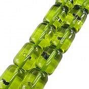تسبیح 33 دانه کهربا پودری حشره ای سبز رنگ
