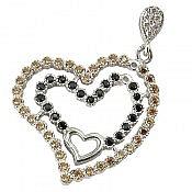 مدال نقره طرح قلب
