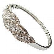 دستبند نقره طرح غزل زنانه