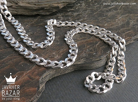 زنجیر نقره 60 سانتی کارتیه سنگین - 45098