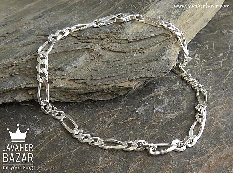 دستبند نقره 20 سانتی - 45110