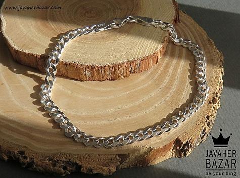 دستبند نقره 20 سانتی - 45127