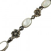 دستبند نقره طرح نسیم زنانه