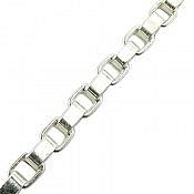 زنجیر نقره 55 سانتی کلاسیک