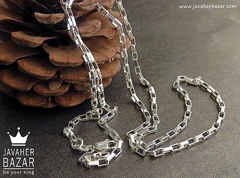زنجیر نقره 55 سانتی - 45318