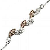 دستبند نقره طرح نازان زنانه