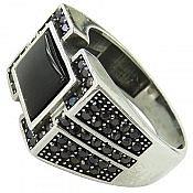 انگشتر نقره عقیق طرح اسپرت مردانه