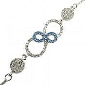 دستبند نقره طرح مبینا زنانه
