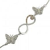 دستبند نقره طرح نازیلا زنانه