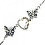 دستبند نقره طرح قلب زنانه