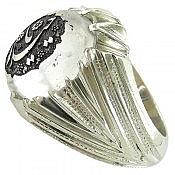 انگشتر نقره در نجف حکاکی یا حیدر مردانه دست ساز