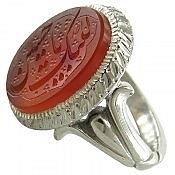 انگشتر نقره عقیق یمن حکاکی لبیک یا حسین مردانه دست ساز