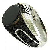 انگشتر نقره عقیق اسپرت مردانه