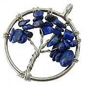 مدال استیل لاجورد طرح درختچه