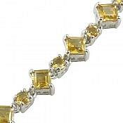 دستبند نقره سیترین طرح اشرافی زنانه