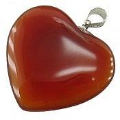 مدال عقیق طرح قلب
