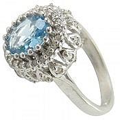 انگشتر نقره توپاز سنتاتیک زنانه