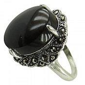 انگشتر نقره عقیق مشکی زنانه