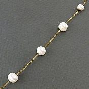 دستبند نقره مروارید سه دوربند زنانه