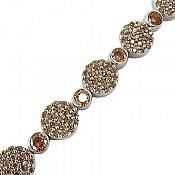 دستبند نقره طرح گیتی زنانه