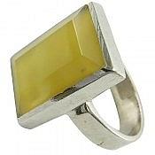 انگشتر نقره عقیق زرد طرح کلاسیک مردانه دست ساز