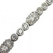 دستبند نقره طرح ساره زنانه