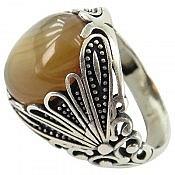 انگشتر نقره عقیق جذاب مردانه