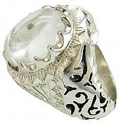 انگشتر نقره در نجف شفاف و لوکس مردانه دست ساز