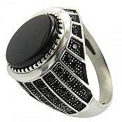 انگشتر نقره عقیق شیک مردانه