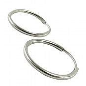 گوشواره نقره حلقه ای زیبا