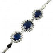 دستبند نقره یاقوت سنتاتیک طرح شیدا زنانه