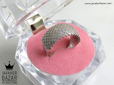 انگشتر نقره طرح مهرناز زنانه - 46813