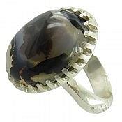 انگشتر نقره عقیق شجر زیبا مردانه