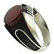 انگشتر نقره عقیق میکرو ستینگ مردانه