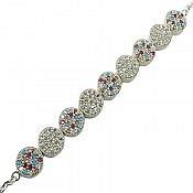 دستبند نقره طرح ارغوان زنانه