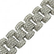 دستبند نقره جواهری فاخر زنانه