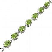 دستبند نقره زبرجد فاخر زنانه