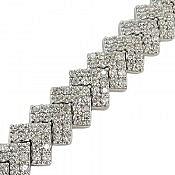 دستبند نقره جواهری زیبا زنانه