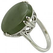 انگشتر نقره یشم یمن خوش رنگ زنانه
