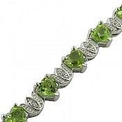 دستبند نقره زبرجد ارزشمند زنانه